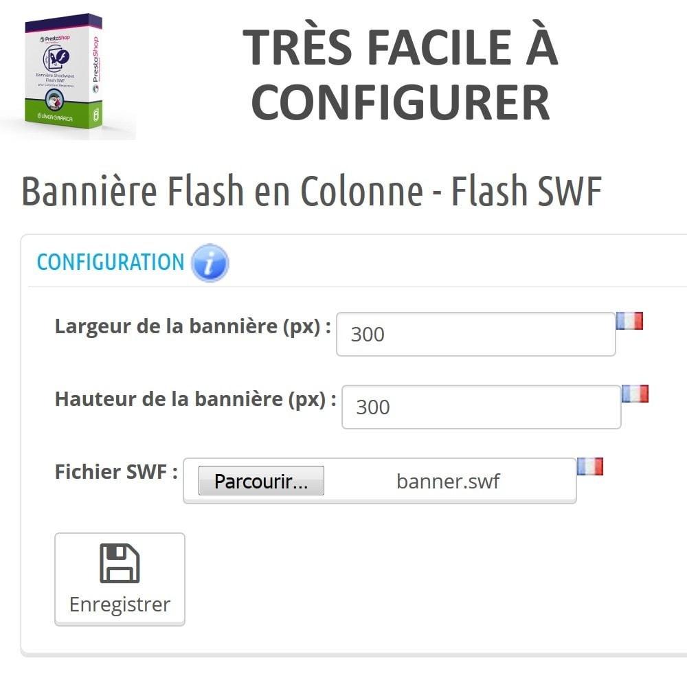 module - Blocs, Onglets & Bannières - Bannière Shockwave Flash SWF pour Colonne - 3