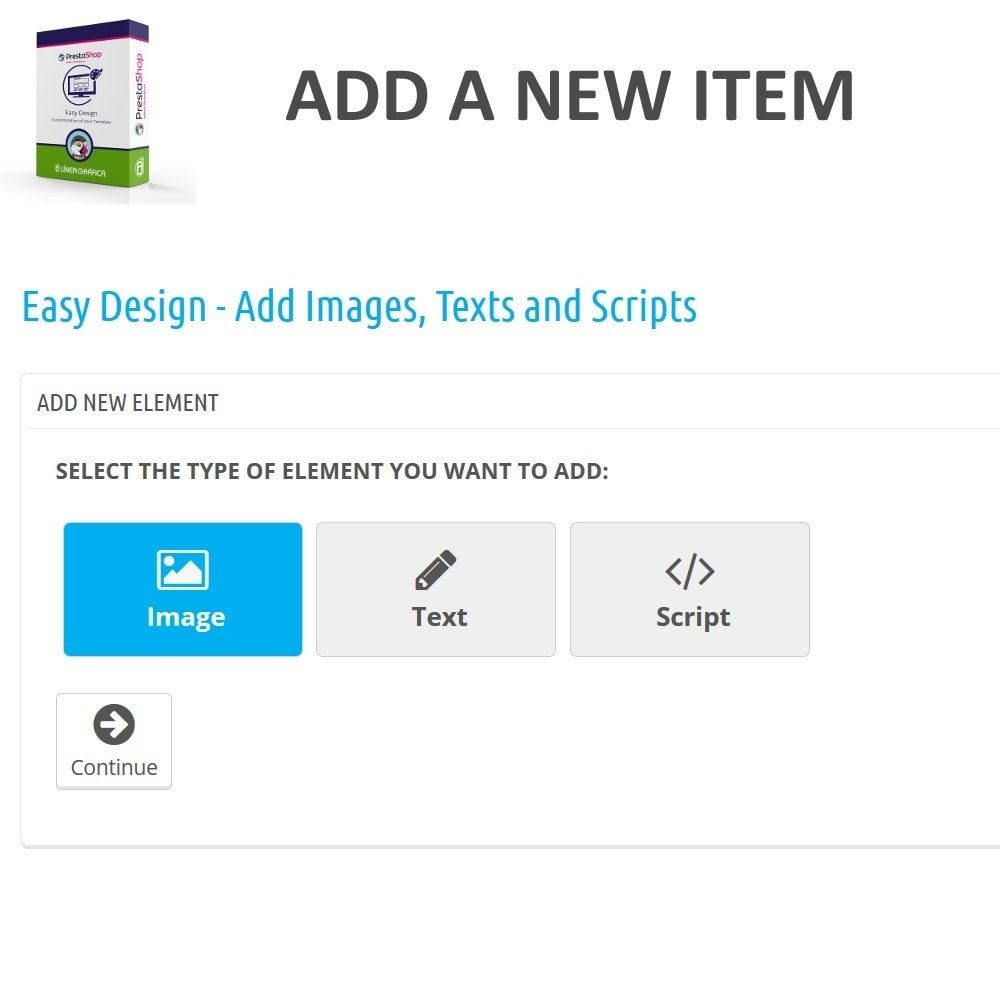 module - Page Customization - Easy Design - Add Images, Texts and Scripts - 2