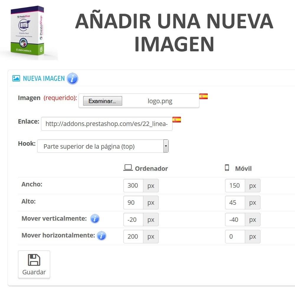 module - Personalización de la página - Diseño Fácil - Añadir Imágenes, Textos y Scripts - 3