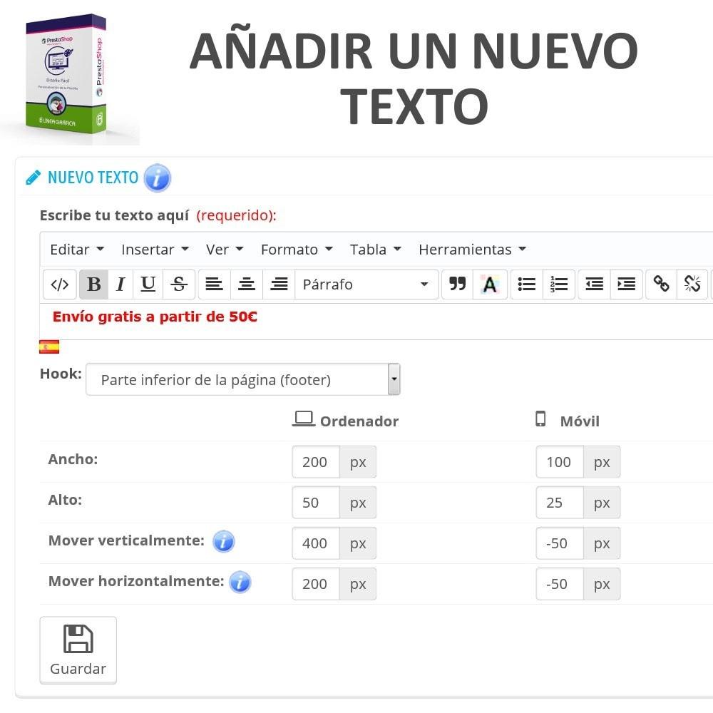 module - Personalización de la página - Diseño Fácil - Añadir Imágenes, Textos y Scripts - 4