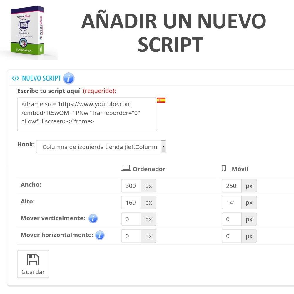 module - Personalización de la página - Diseño Fácil - Añadir Imágenes, Textos y Scripts - 5