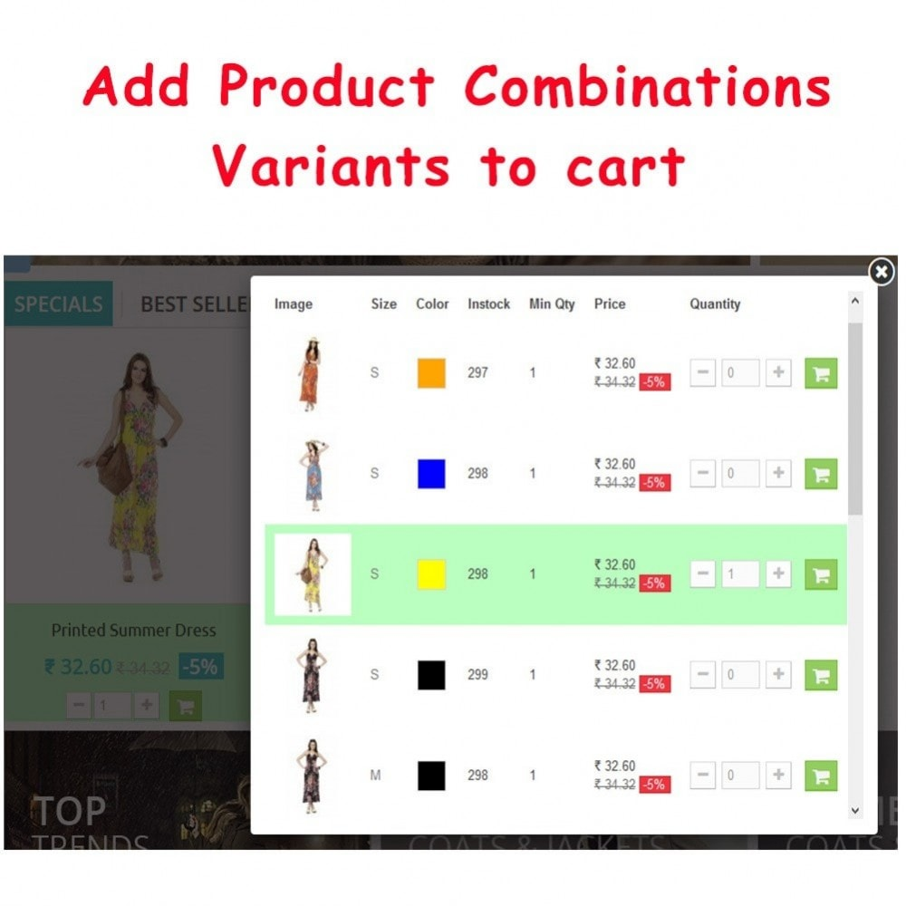module - Bestelproces - Quick Add to Cart Products Combinations with Quantity - 8
