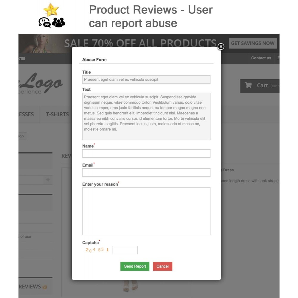 module - Descuentos en redes sociales - Product Reviews + Shop Reviews, Reminder, User Profile - 10