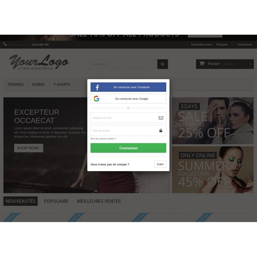 module - Boutons Login & Connect - easyAuth Social Networks Plugin (Google, Twitter...) - 1
