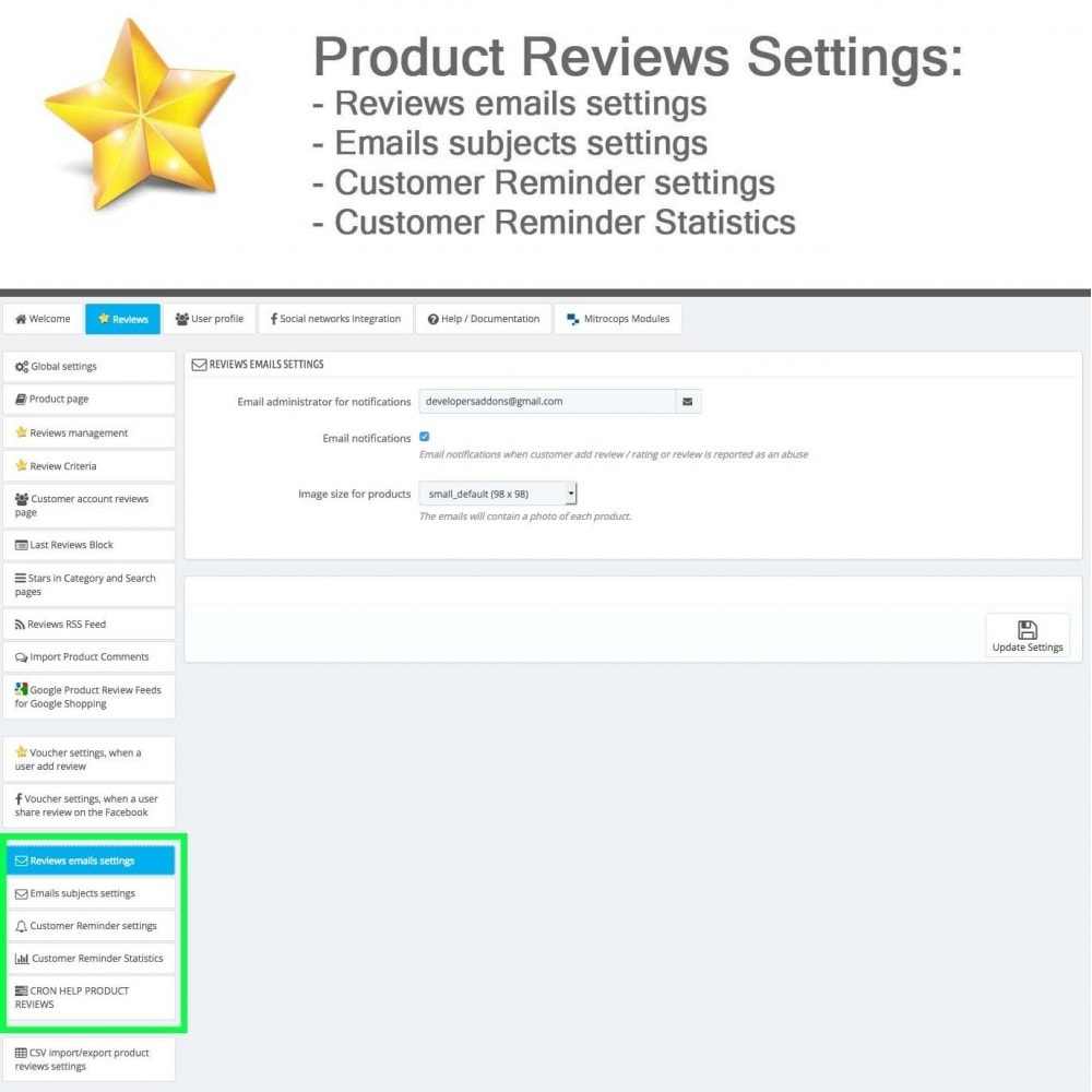 module - Opinie klientów - Product Reviews Advanced PRO + Reminder + User Profile - 29