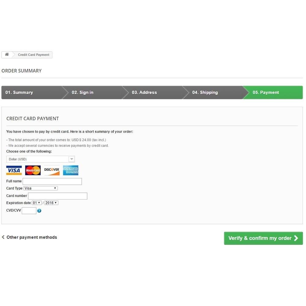 module - Оплата банковской картой или с помощью электронного кошелька - Bambora/Beanstream Payment - 4