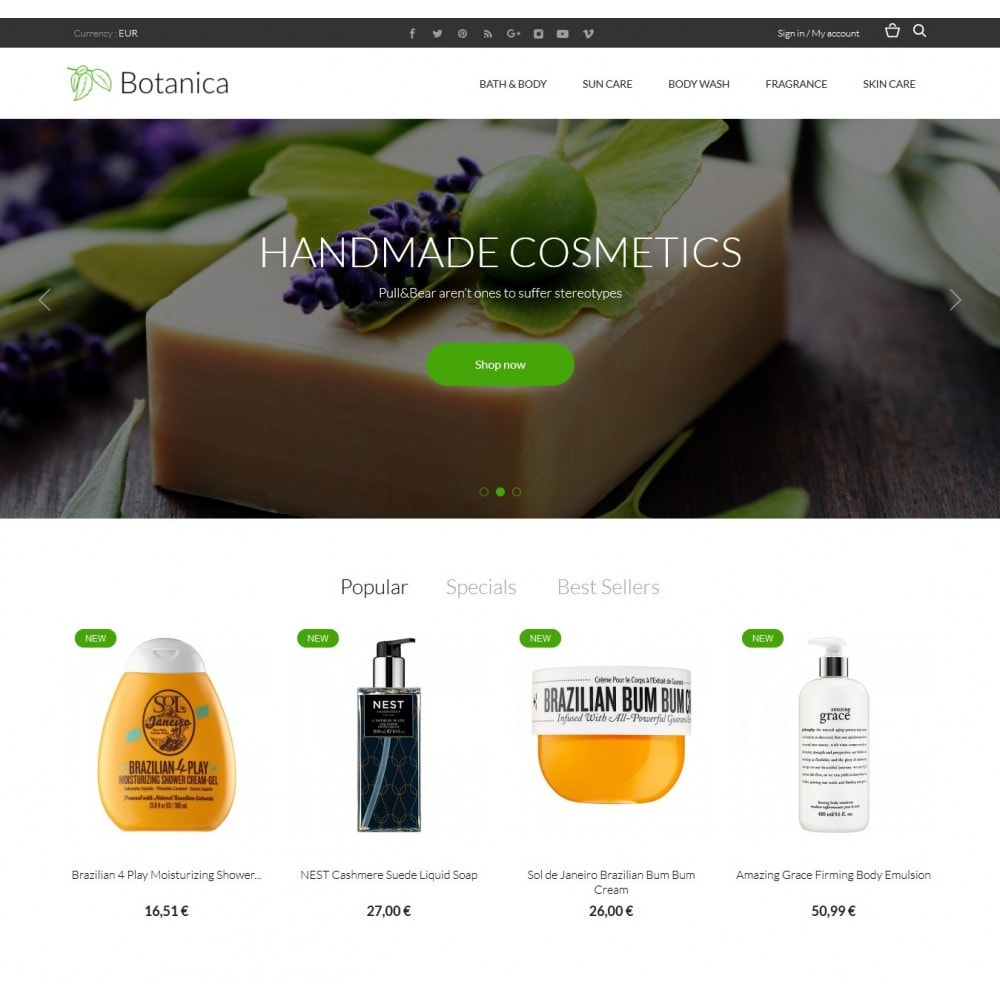 theme - Health & Beauty - Botanica Cosmetics - 2