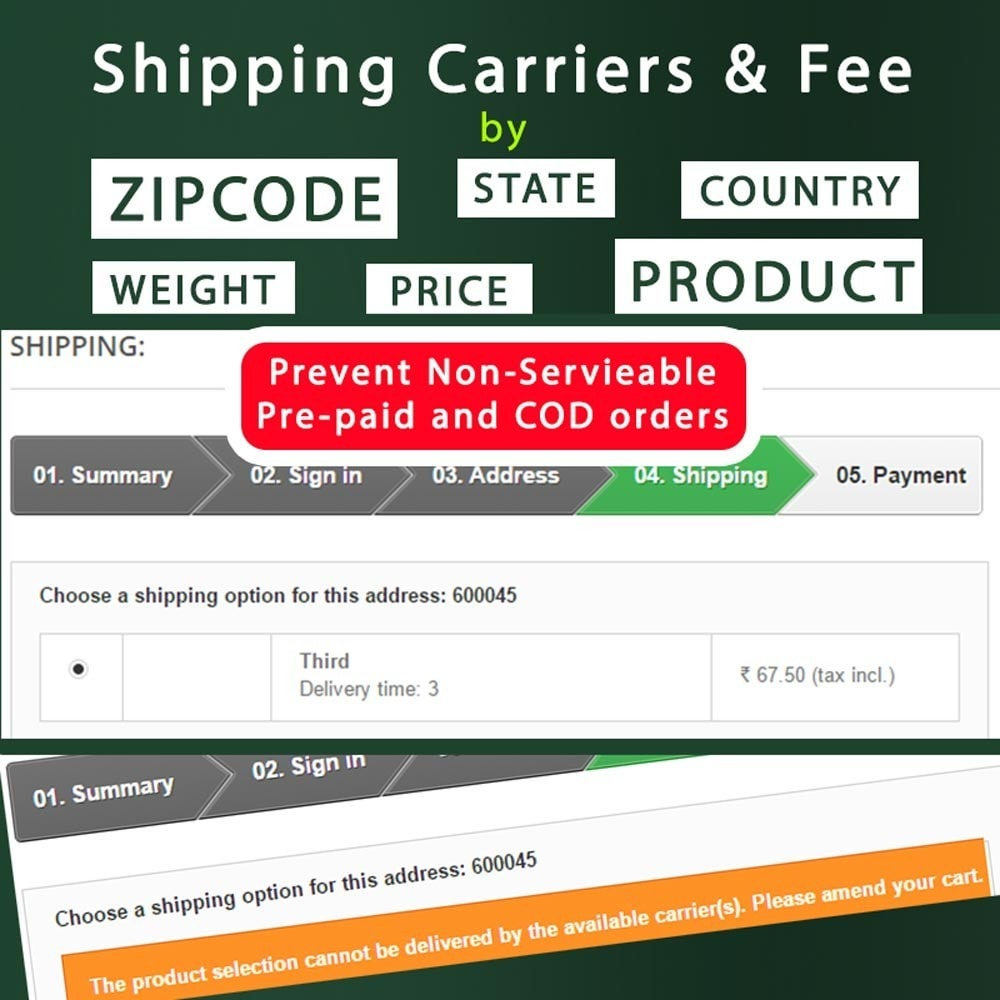 module - Оплата при доставке - Cash on Delivery COD & Shipping Fee by Zipcode, Product - 3