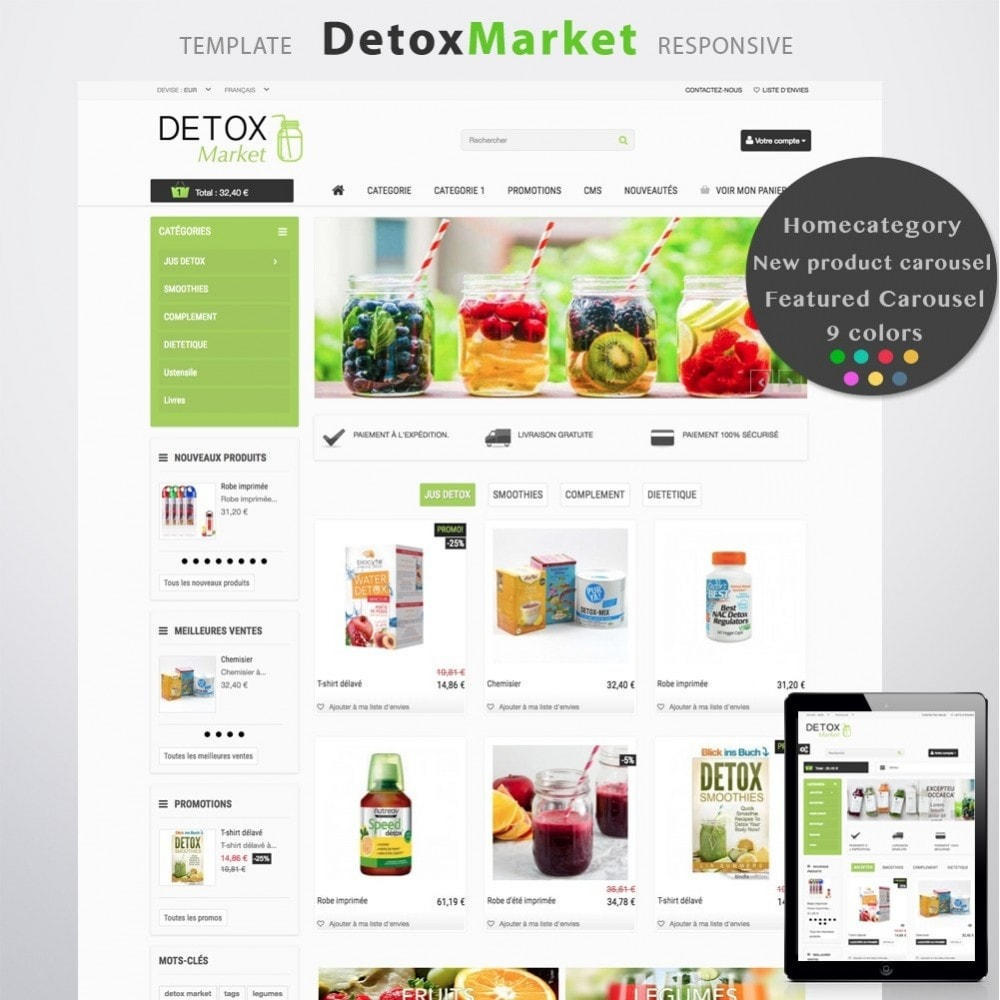 theme - Health & Beauty - Detox Market - 1