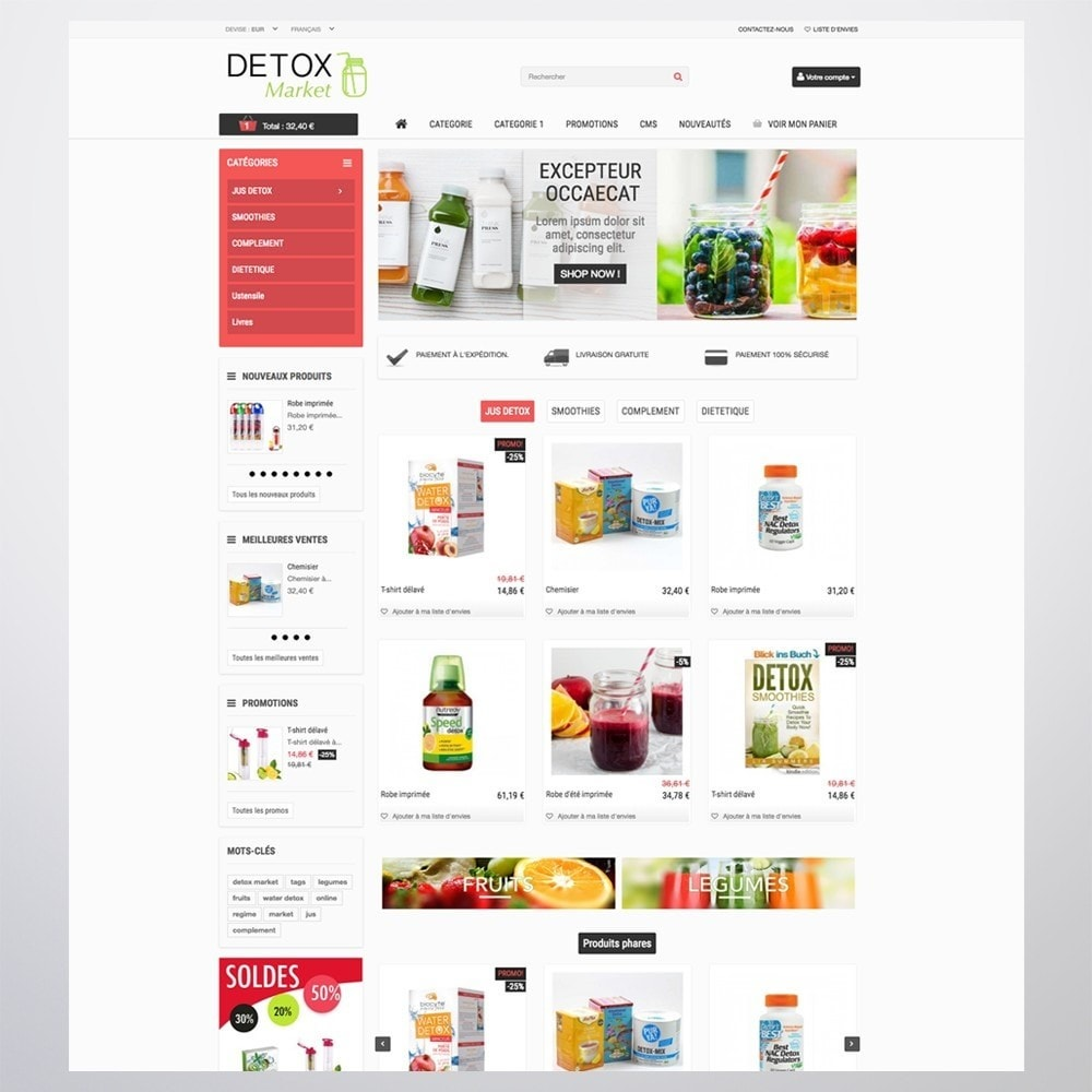 theme - Gezondheid & Schoonheid - Detox Market - 2