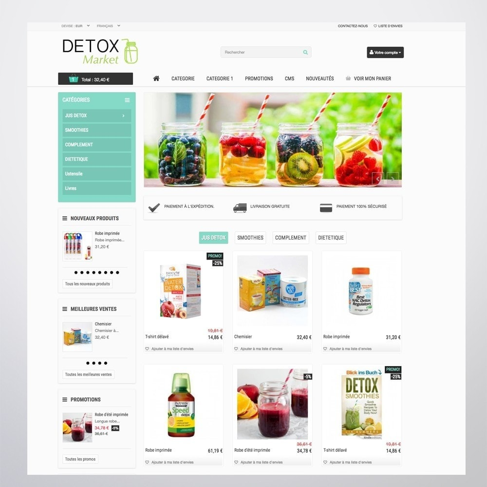 theme - Health & Beauty - Detox Market - 7