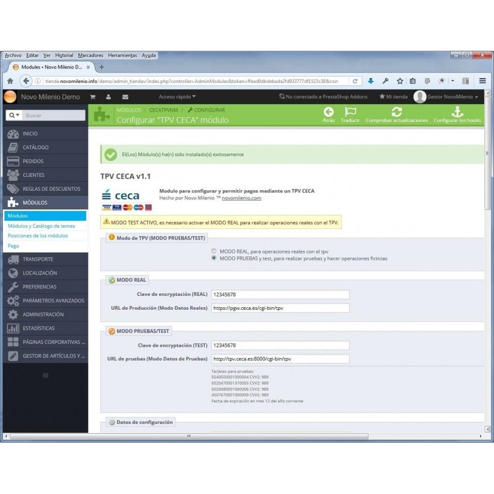 module - Pago con Tarjeta o Carteras digitales - CECA TPV PS16 Pago seguro con tarjeta de crédito SHA2 - 5