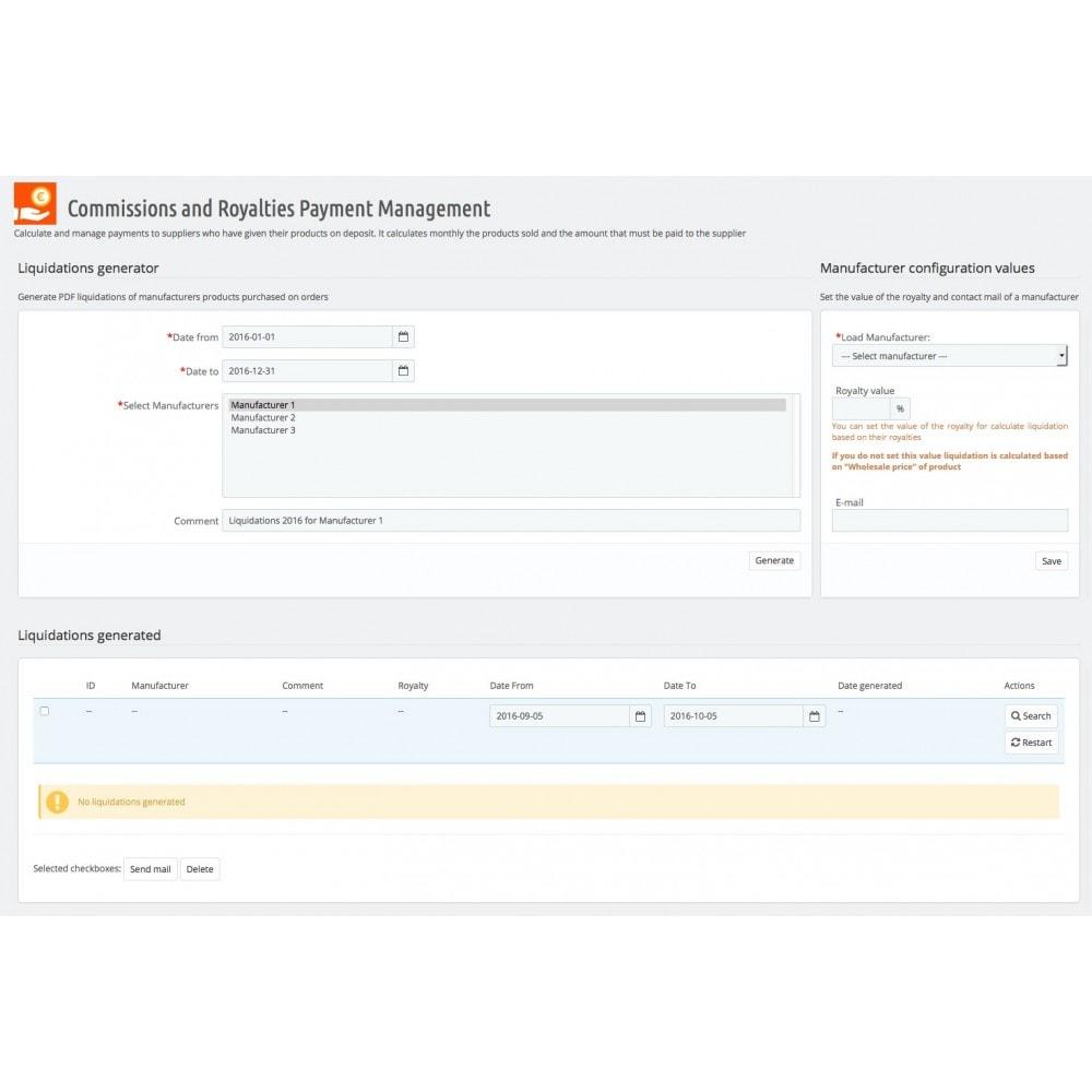 module - Otros métodos de pago - Gestión pagos de comisiones y royalties - 3