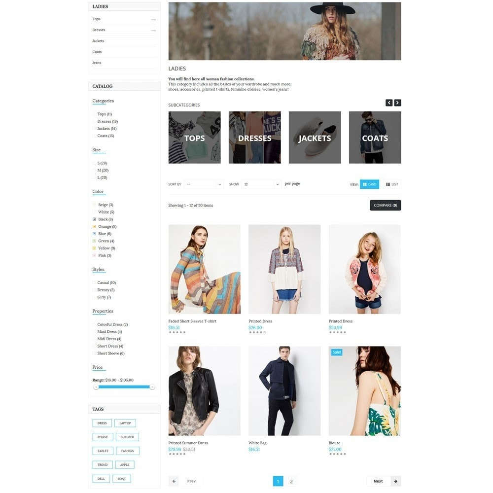 theme - Moda & Calzature - TopShop Fashion Store - 5