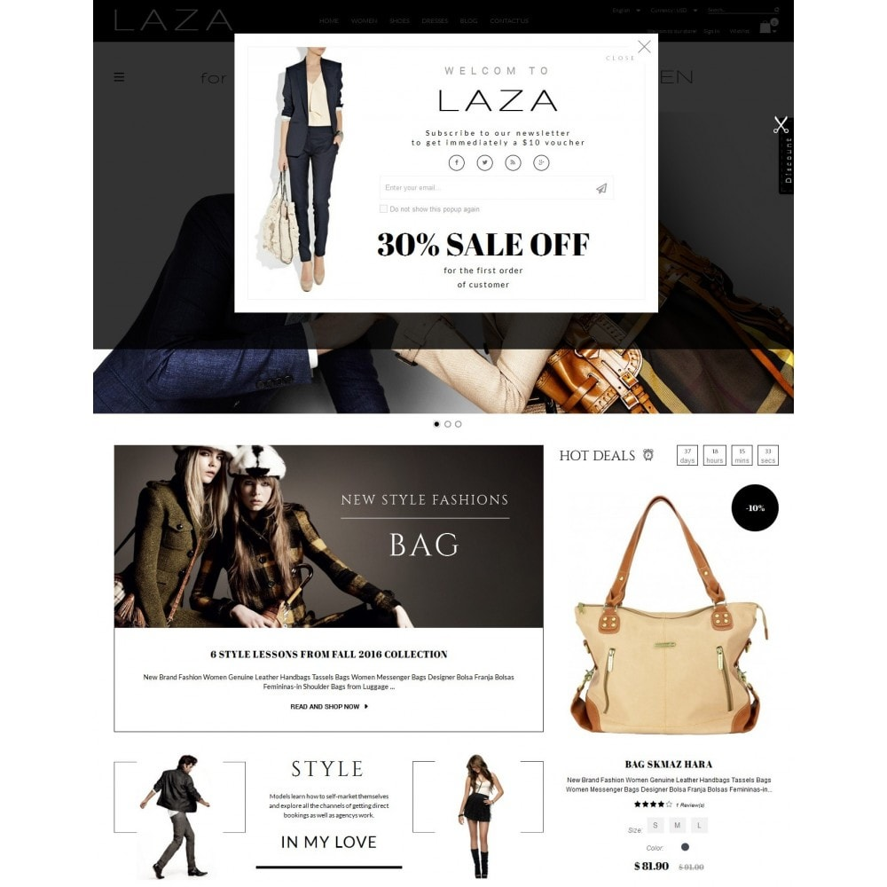 theme - Fashion & Shoes - Laza Fashion Store - 2