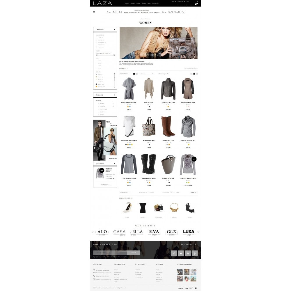 theme - Fashion & Shoes - Laza Fashion Store - 5