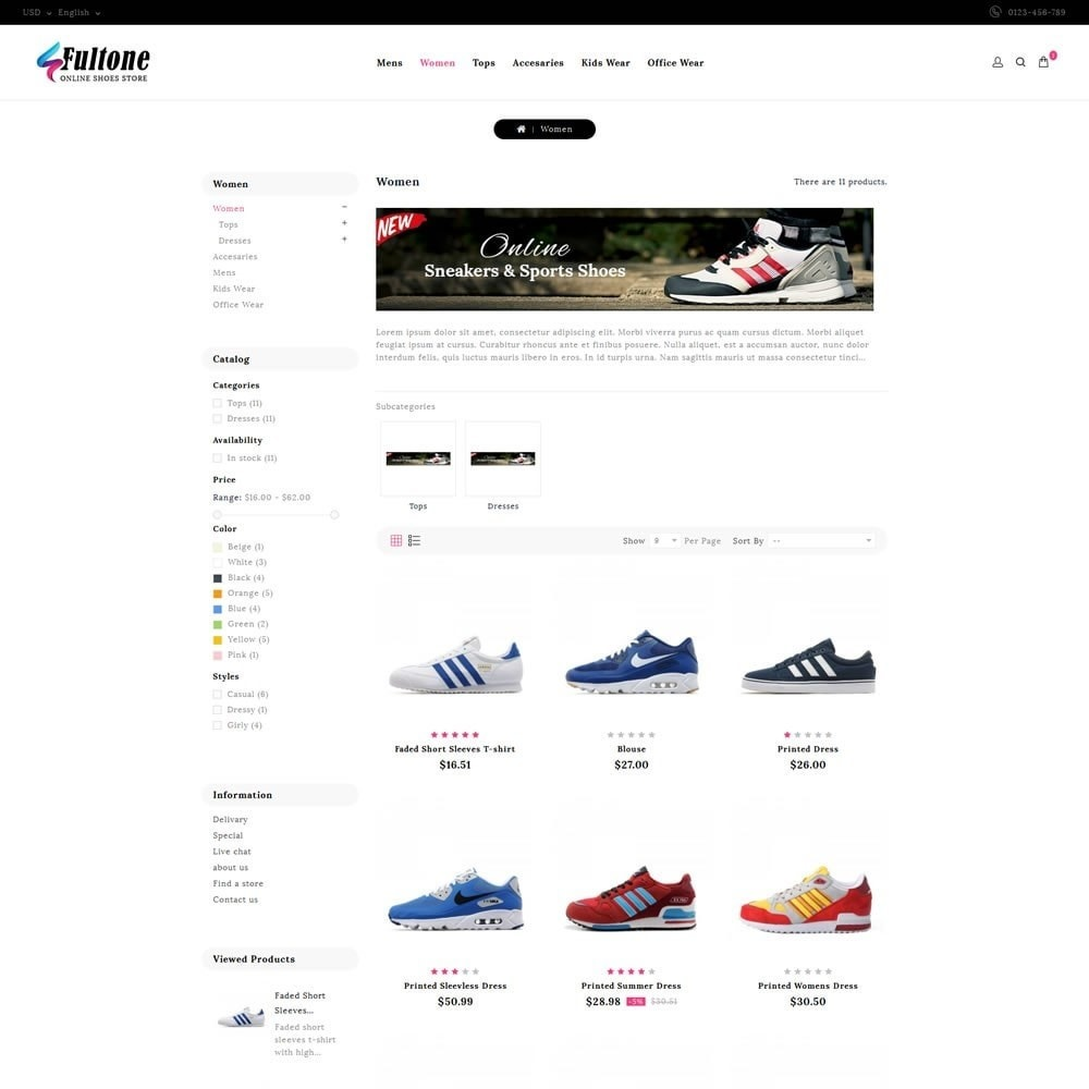 theme - Mode & Chaussures - Fultone - Footwear Store - 3