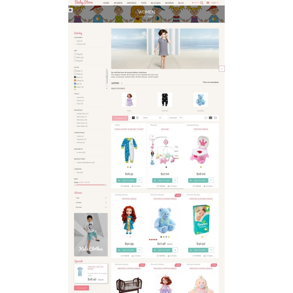 theme - Kids & Toys - Smart Baby And Kids Store - 5
