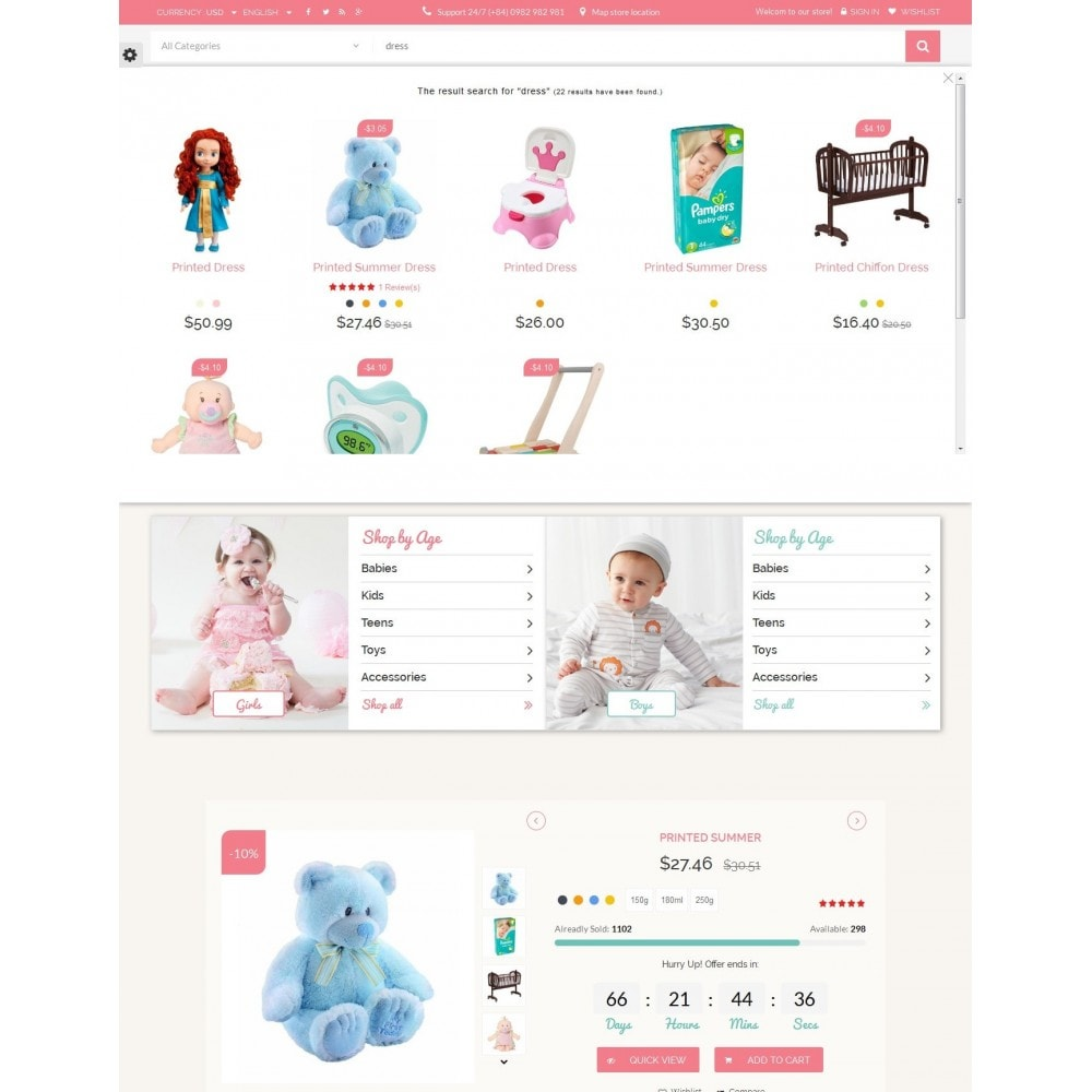 theme - Kids & Toys - Smart Baby And Kids Store - 9
