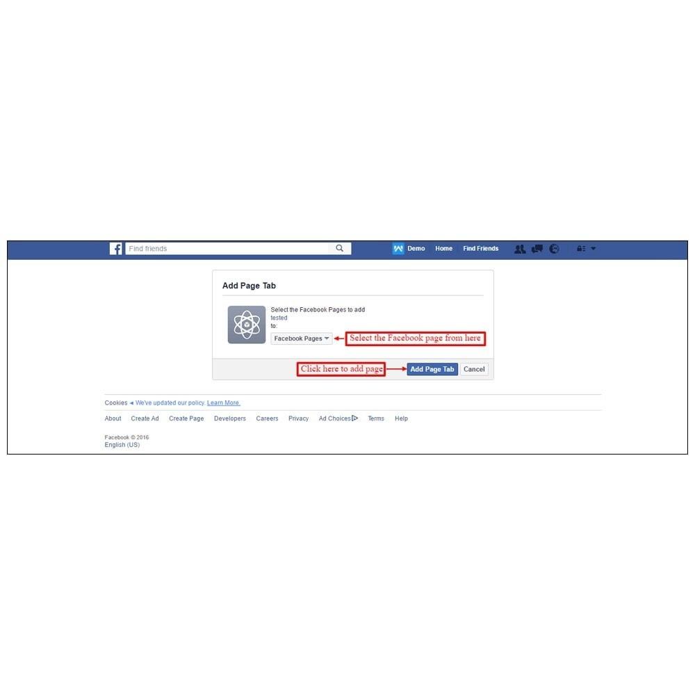 module - Produits sur Facebook & réseaux sociaux - Webkul Fb Shop - Social promotion of E-store - 20