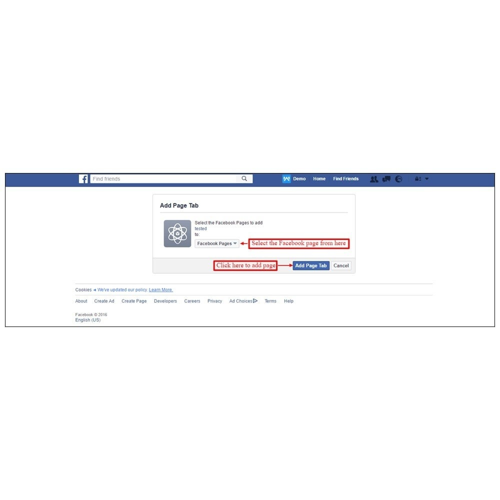 module - Prodotti sui Facebook & Social Network - Webkul Fb Shop - Social promotion of E-store - 20