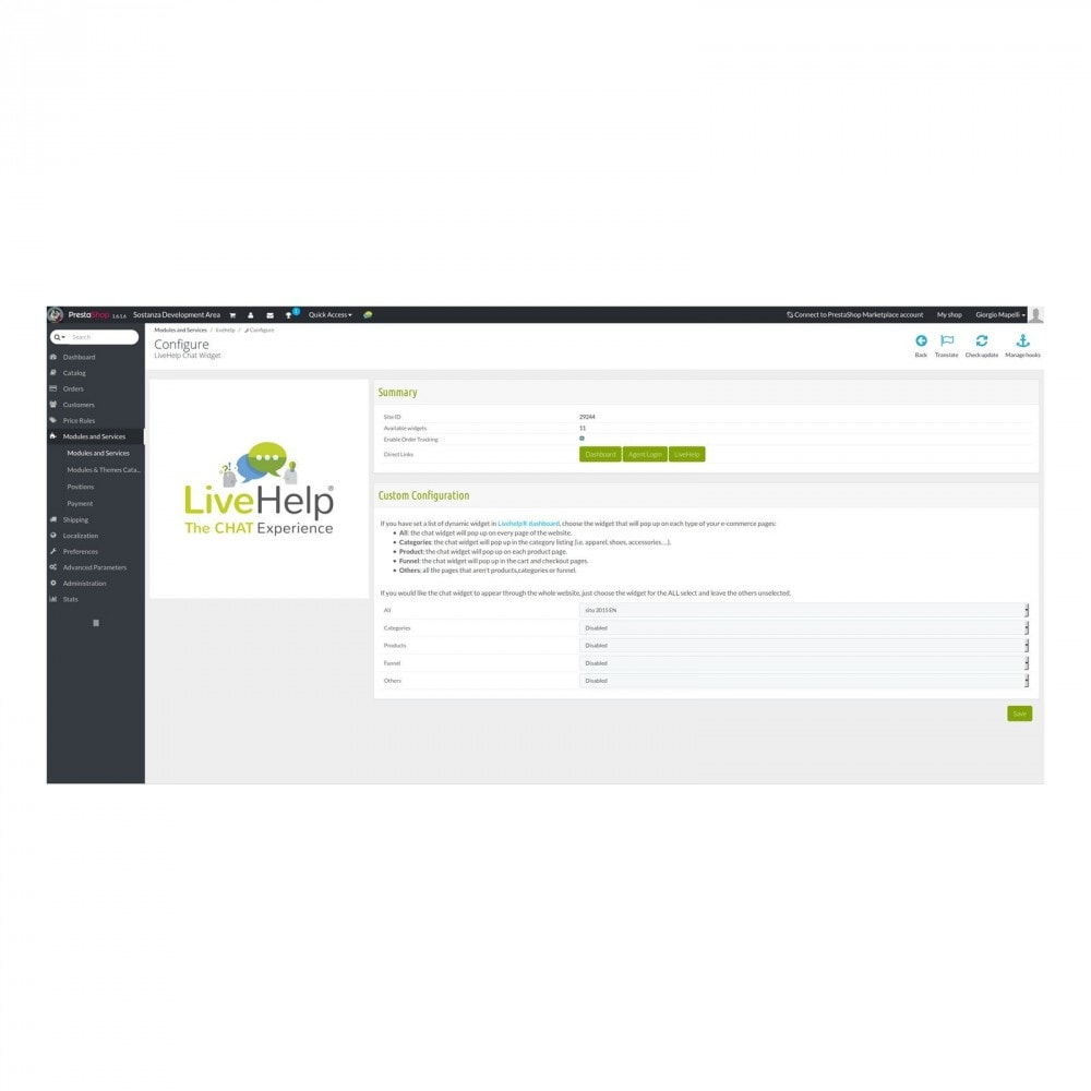 module - Suporte & Chat on-line - LiveHelp® Live Chat - 3