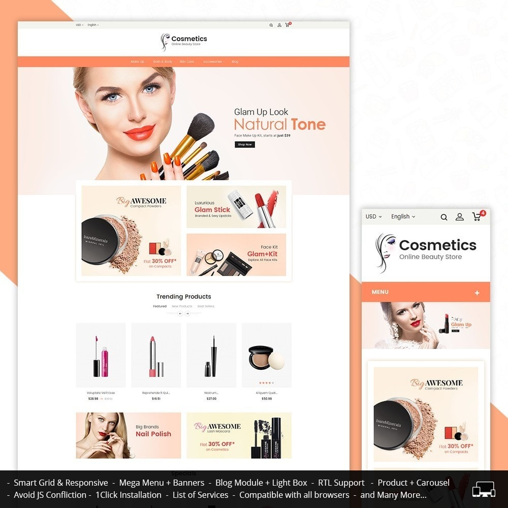 theme - Health & Beauty - Cosmetic Store - 1