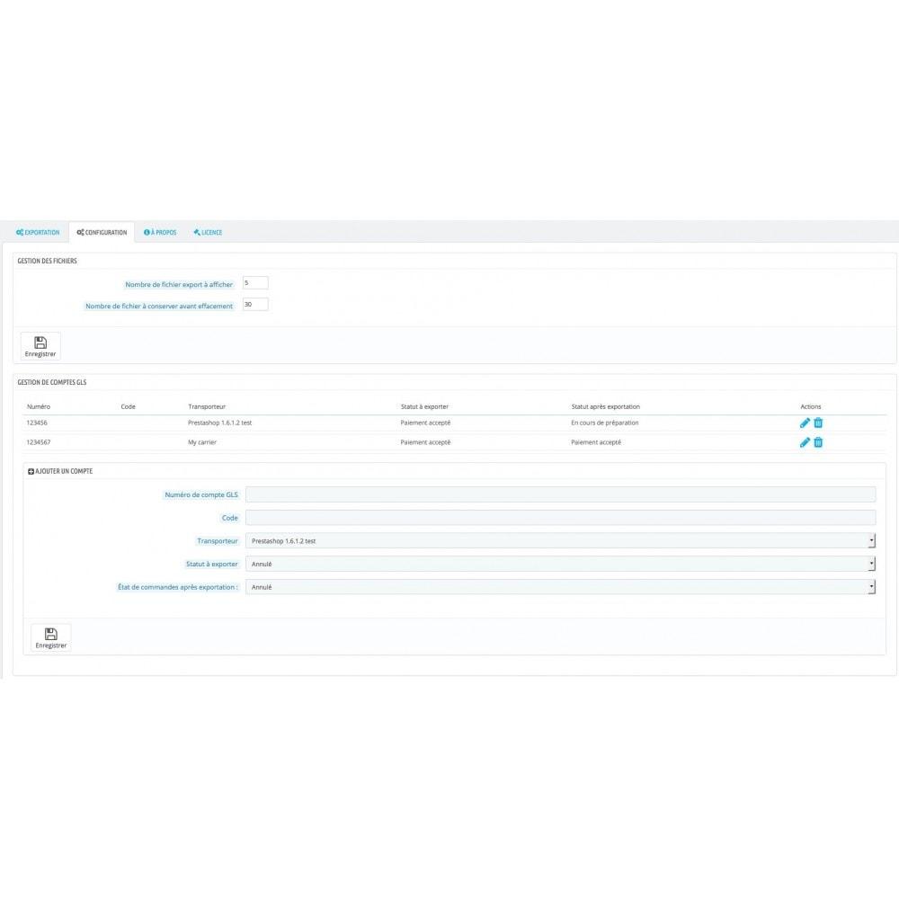 module - Préparation & Expédition - GLS - Export CSV pour édition d'étiquettes - 3