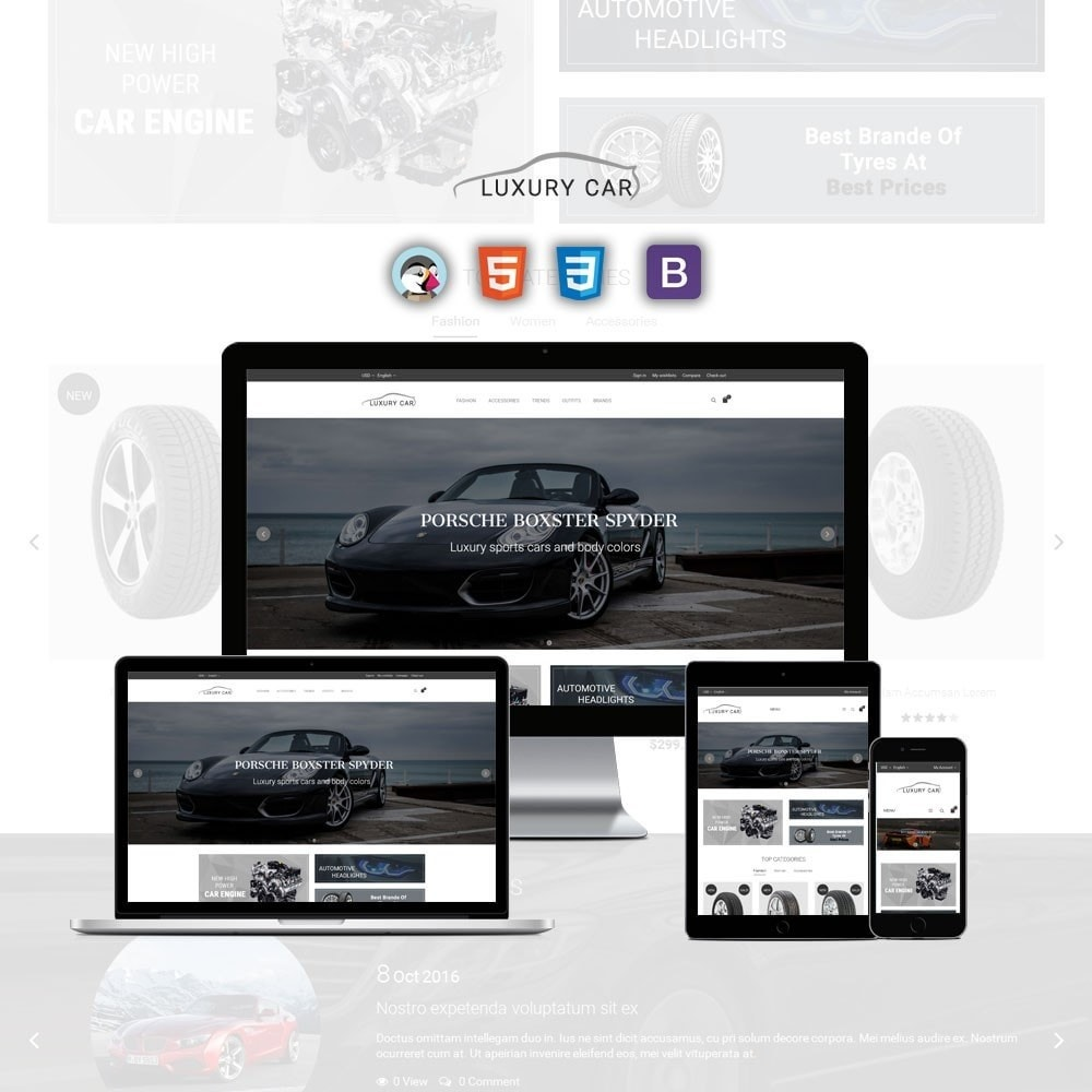 theme - Carros & Motos - Luxury Car Store - 1