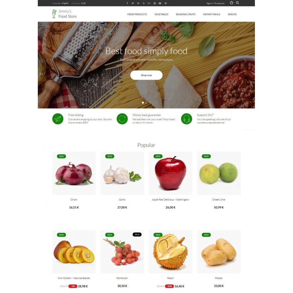 theme - Alimentation & Restauration - Jimmy's Food Store - 3