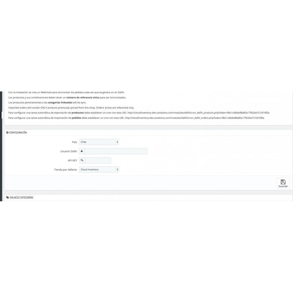 module - Marketplaces - Sincronización Marketplace Dafiti de pedidos y stock - 2