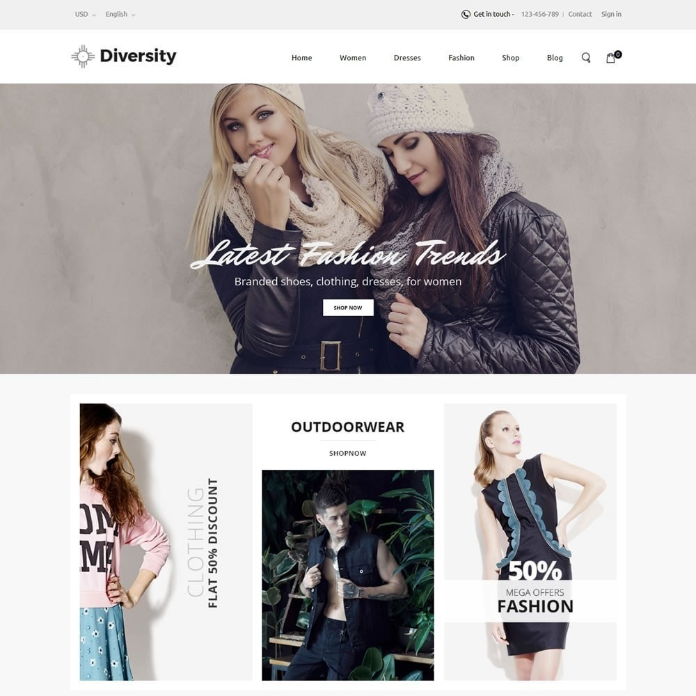 Diversity - Fashion Store