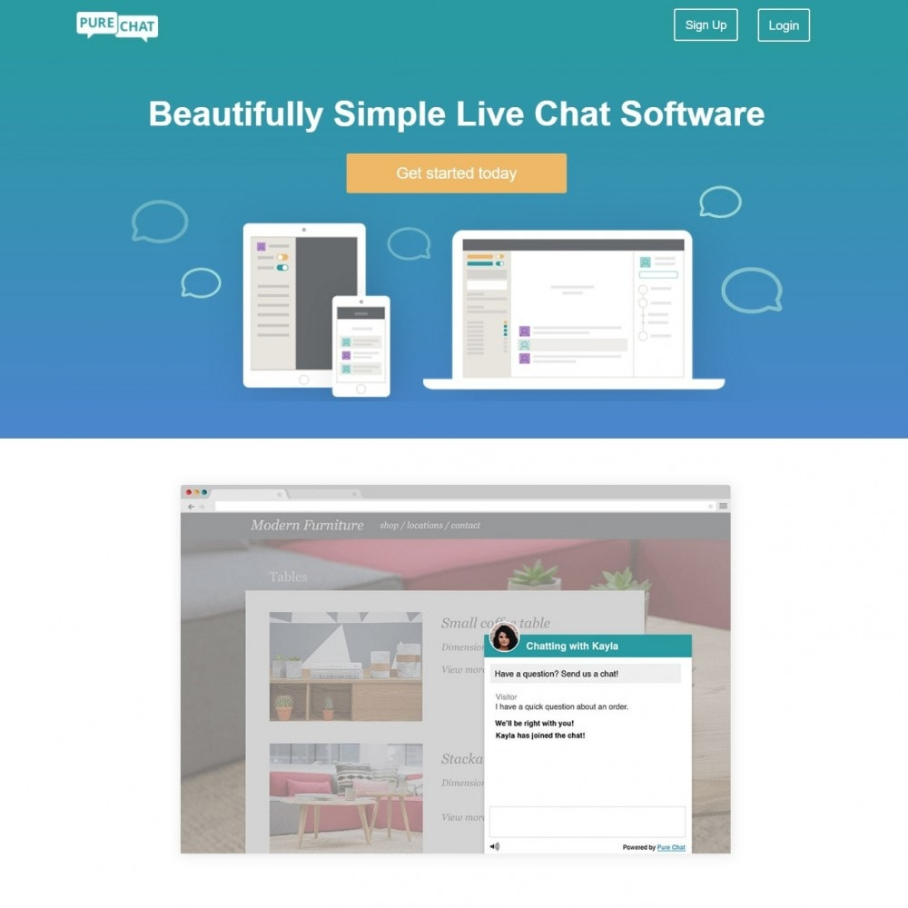 module - Ondersteuning & Online chat - Purechat - Live Chat and Website Visitor Tracking - 2