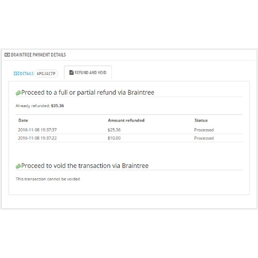 module - Paiement par Carte ou Wallet - Braintree - 11