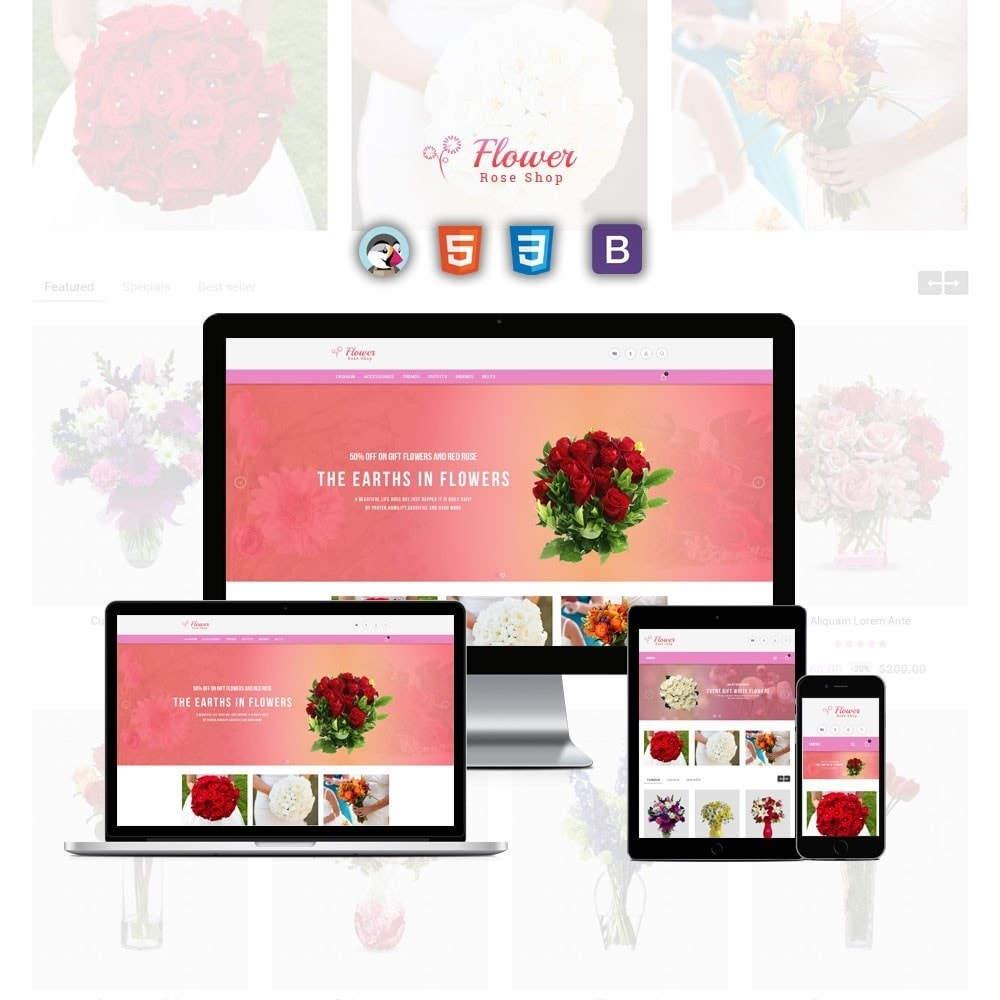 theme - Cadeaux, Fleurs et Fêtes - Flower Store - 1