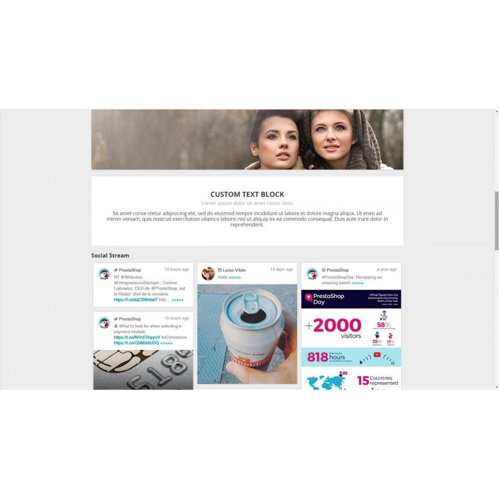 module - Widgets réseaux sociaux - Presta Social Stream - 8