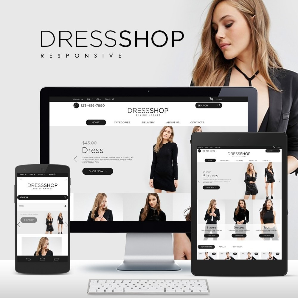 theme - Moda & Calzature - DressShop - 1
