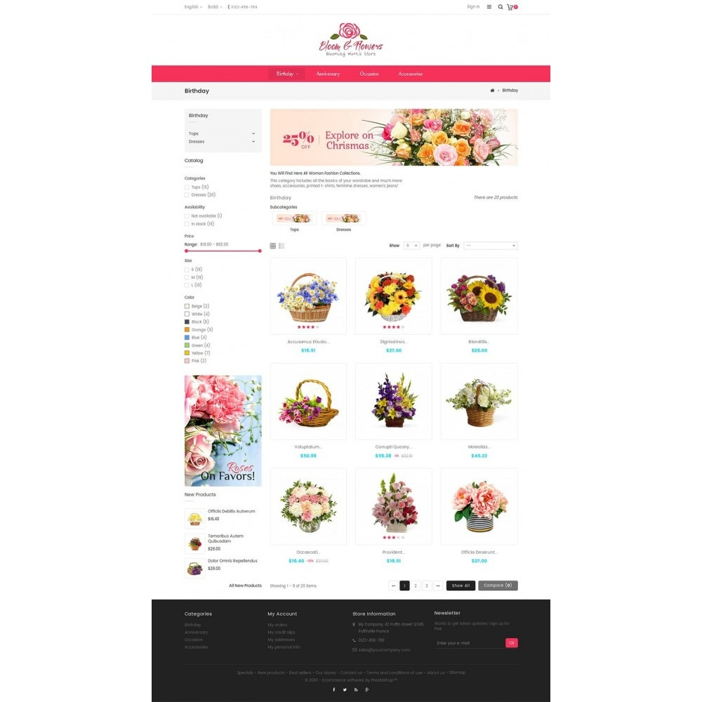 theme - Шаблоны PrestaShop - Bloom Flower Store - 3