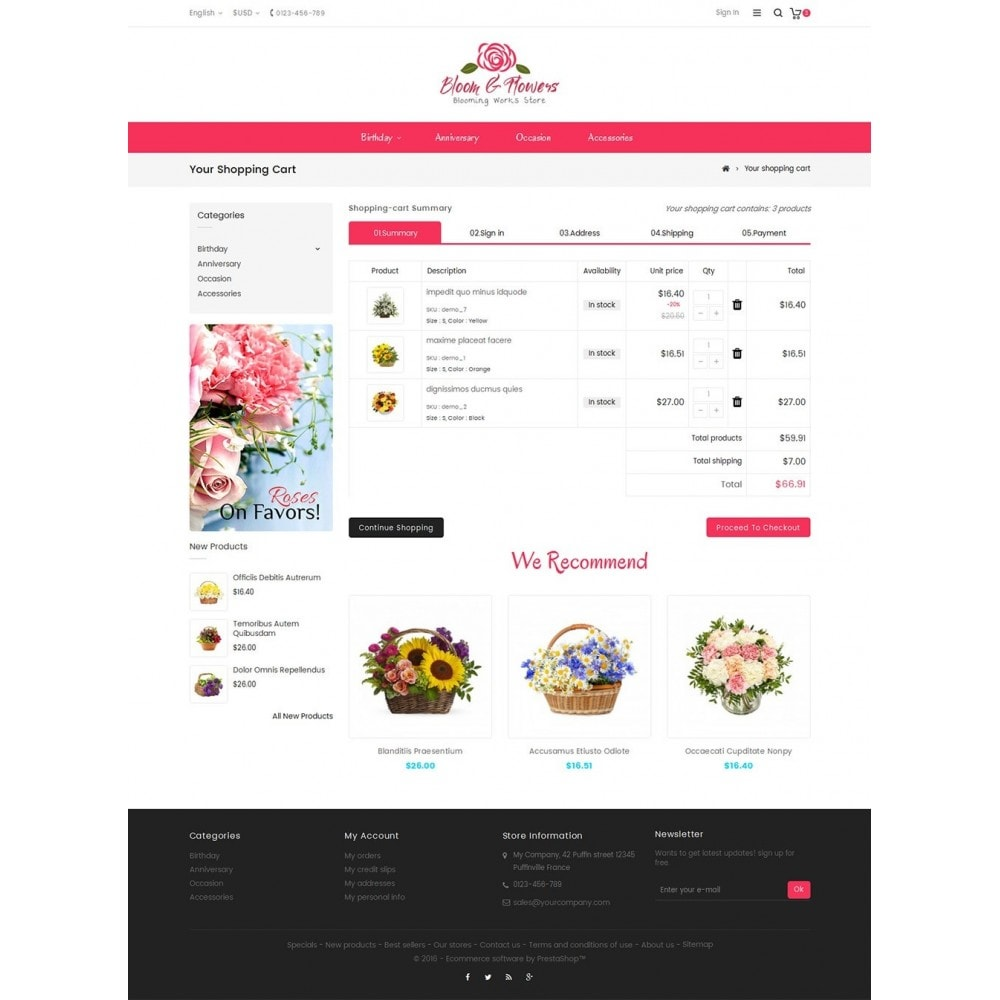 theme - PrestaShop Szablony - Bloom Flower Store - 6