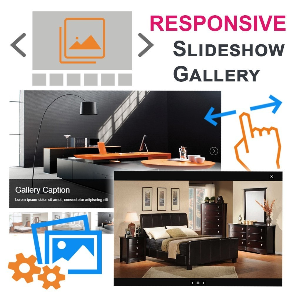 module - Gallerijen & Sliders - Responsive Slideshow Gallery - 1