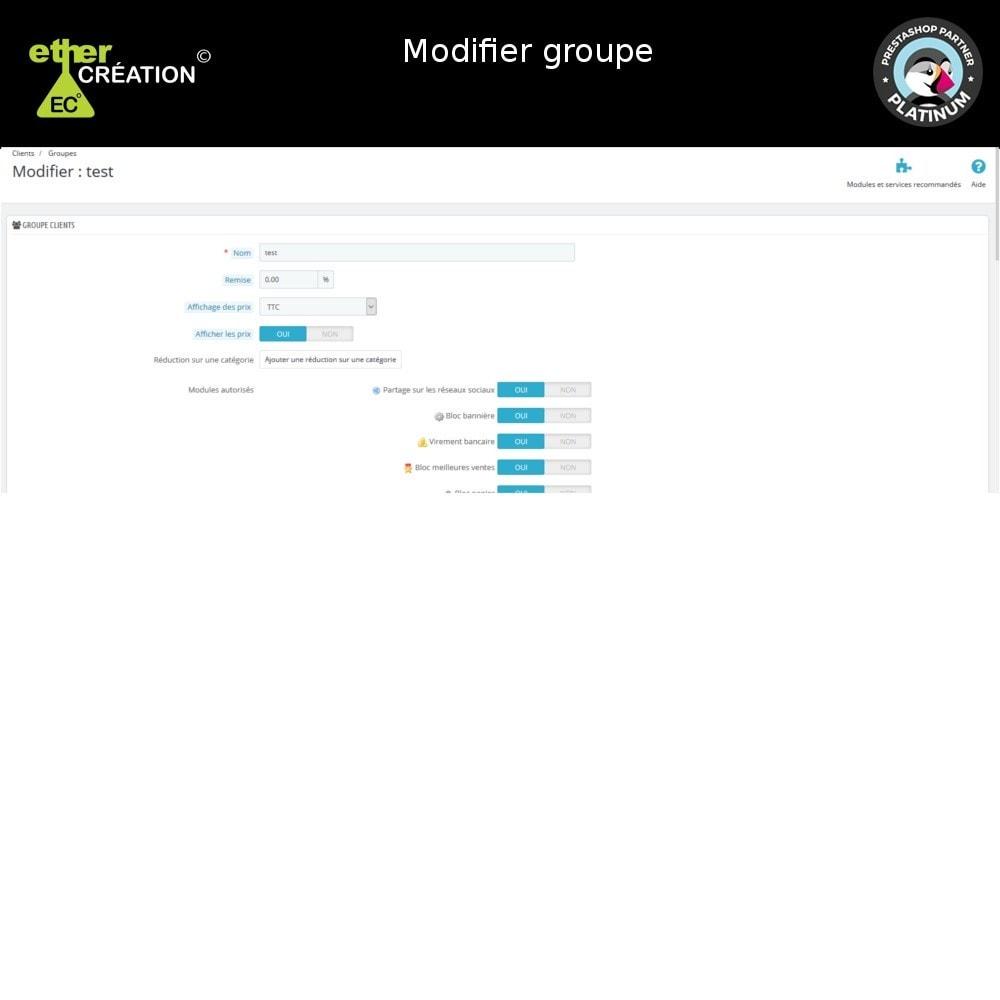 module - Fidélisation & Parrainage - Edition en masse des groupes clients et export - 6