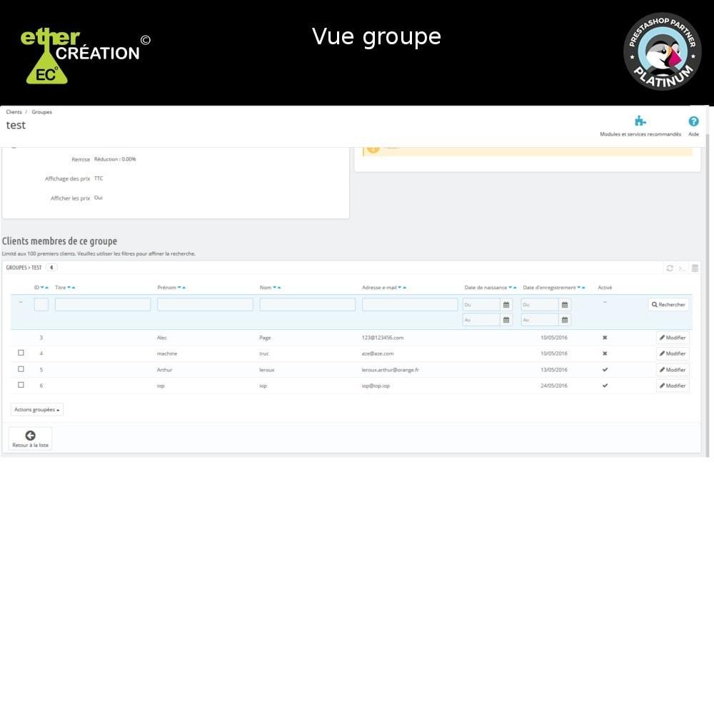 module - Fidélisation & Parrainage - Edition en masse des groupes clients et export - 8