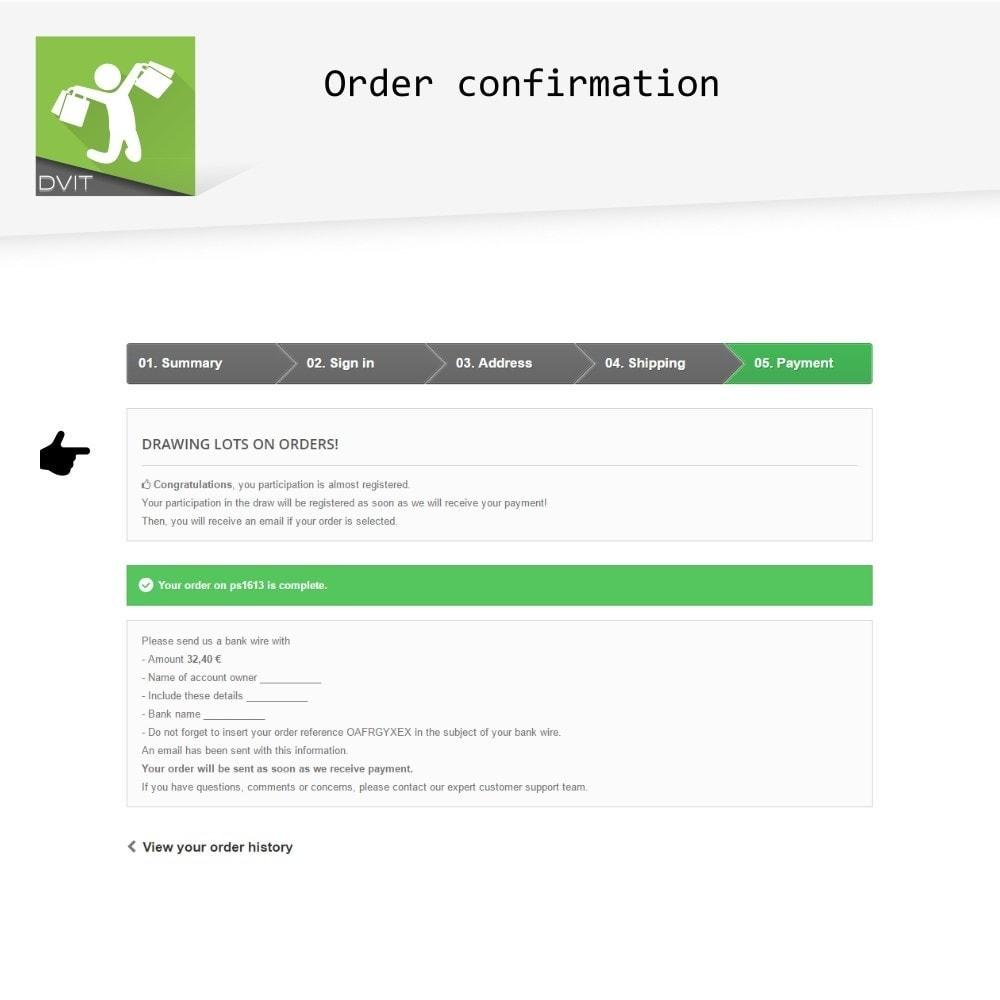 module - Promoties & Geschenken - Winning Orders - 4
