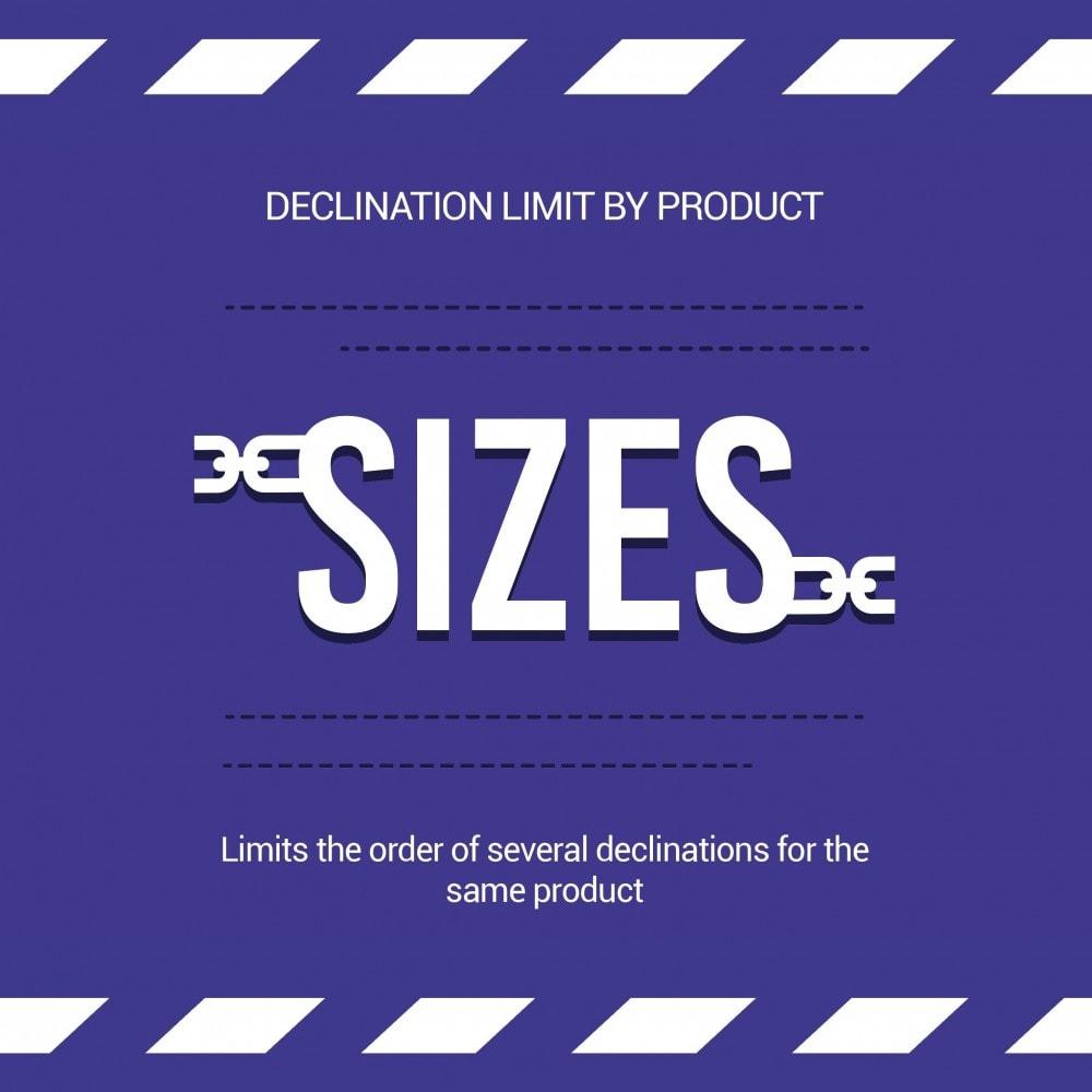 module - Combinaciones y Personalización de productos - Limit the quantity of a product/declination per basket - 1