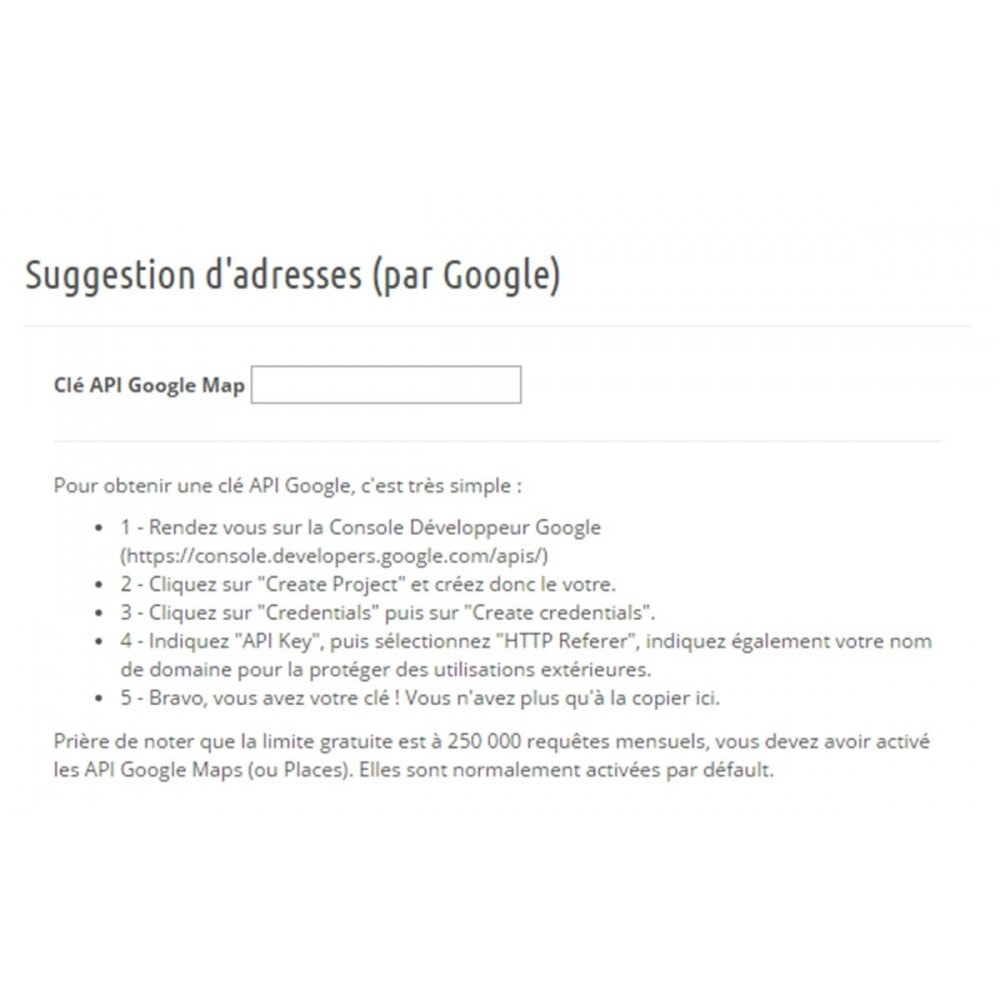 module - Inscription & Processus de commande - Suggestion d'adresse (par Google) - 4