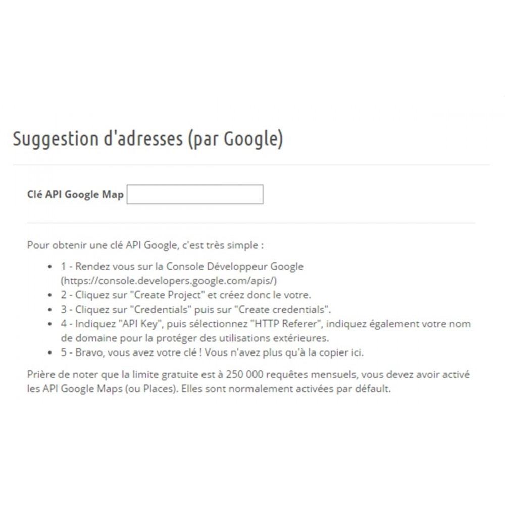 module - Inscription & Processus de commande - Suggestion d'adresse (par Google) - 4