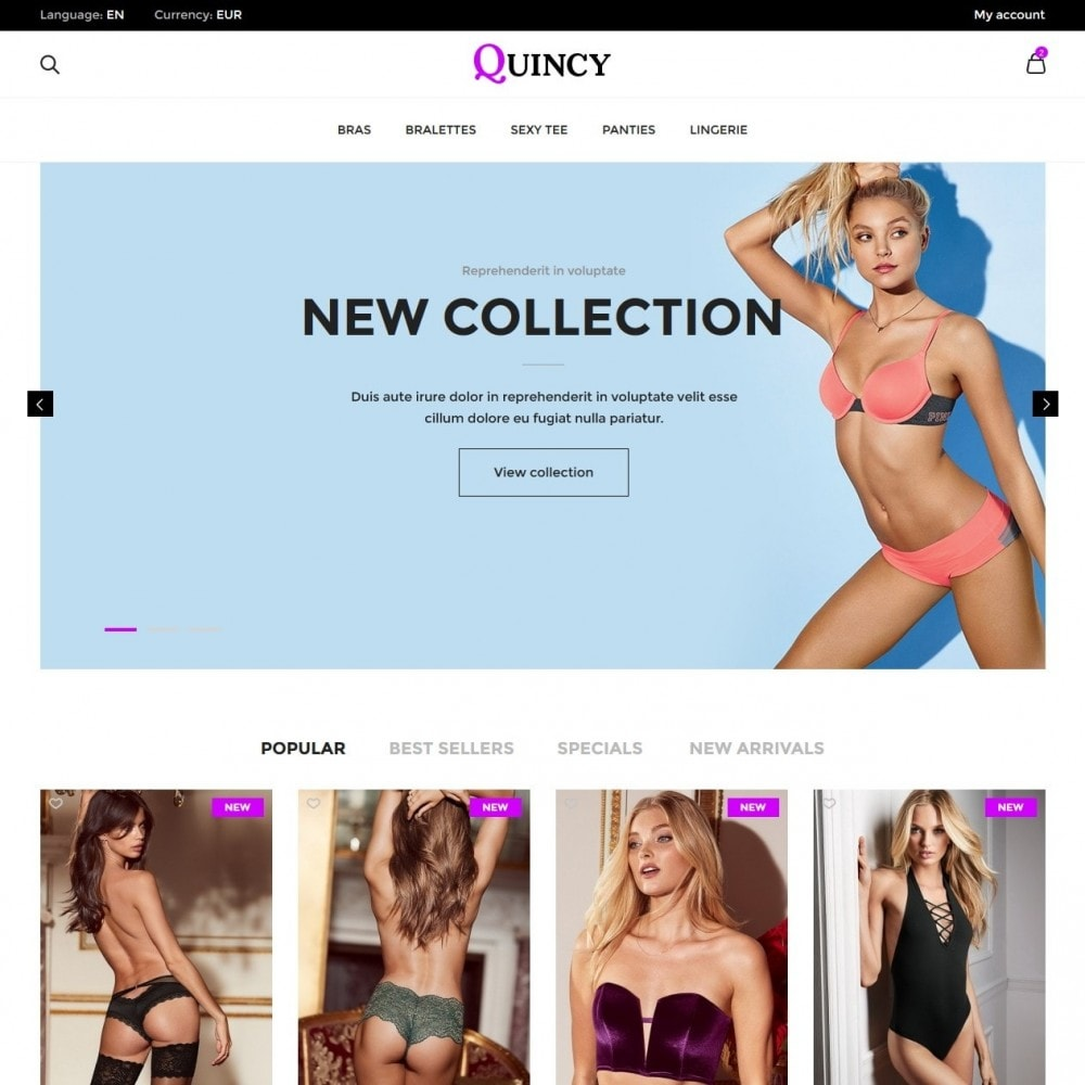 theme - Lingerie & Adulte - Quincy Shop - 2