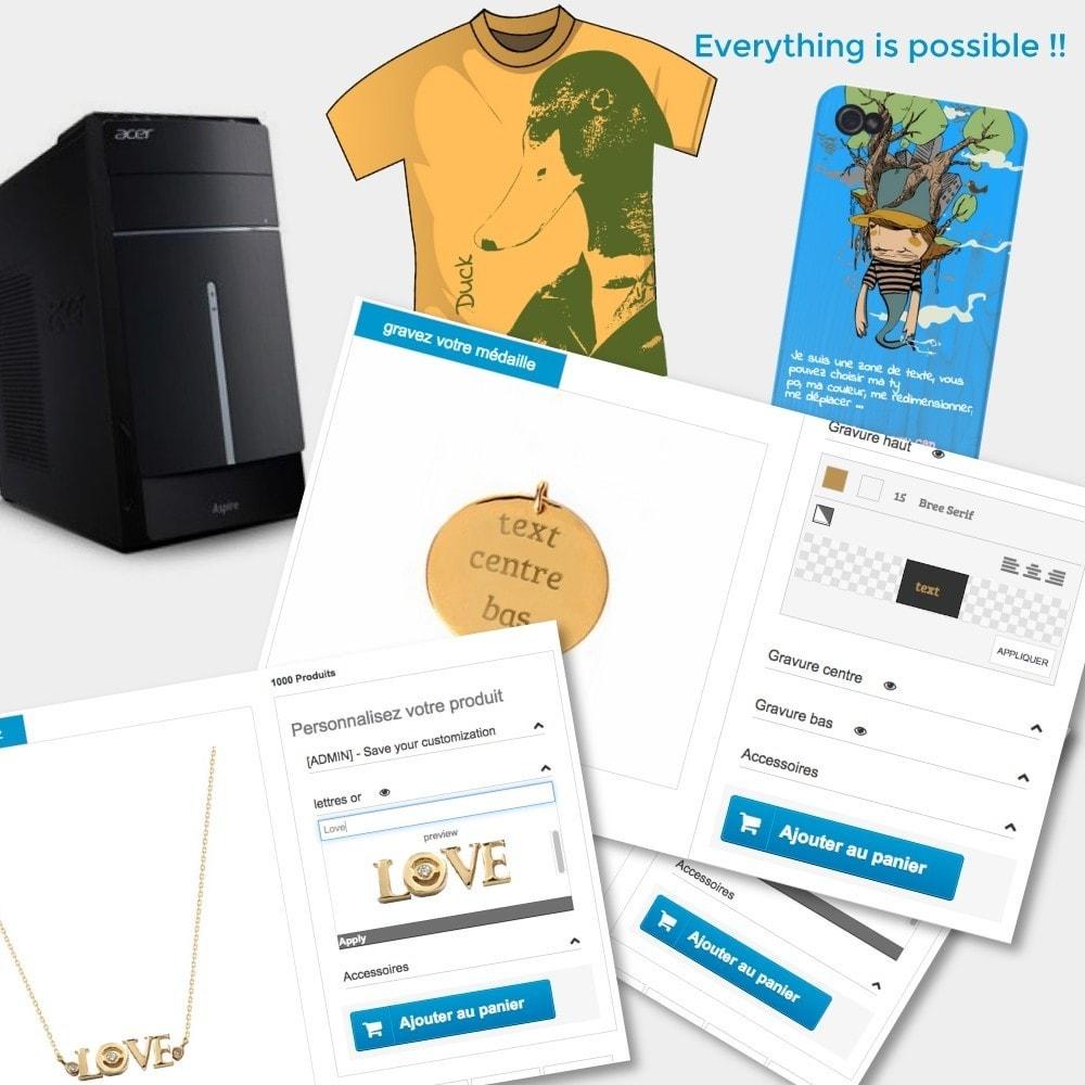 module - Déclinaisons & Personnalisation de produits - Personnalisation et options pour vos produits - 1