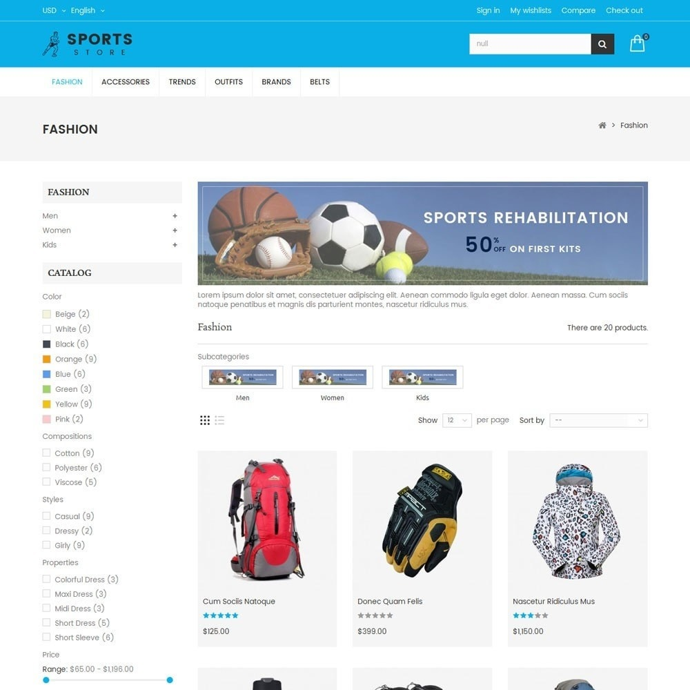 theme - Sports, Activities & Travel - Sports Store - 3