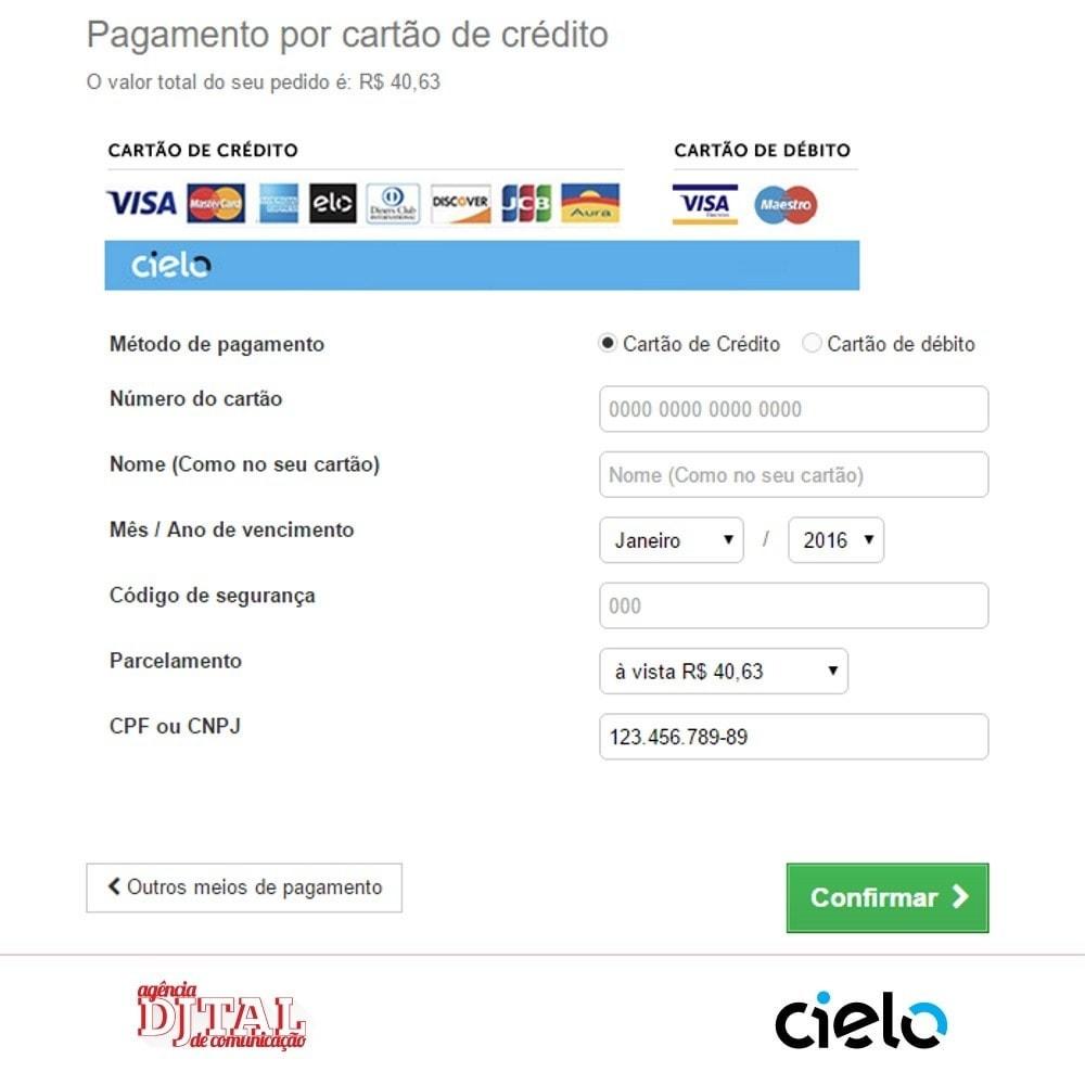 module - Pagamento por cartão ou por carteira - Checkout Cielo Transparente e Integrado - 5